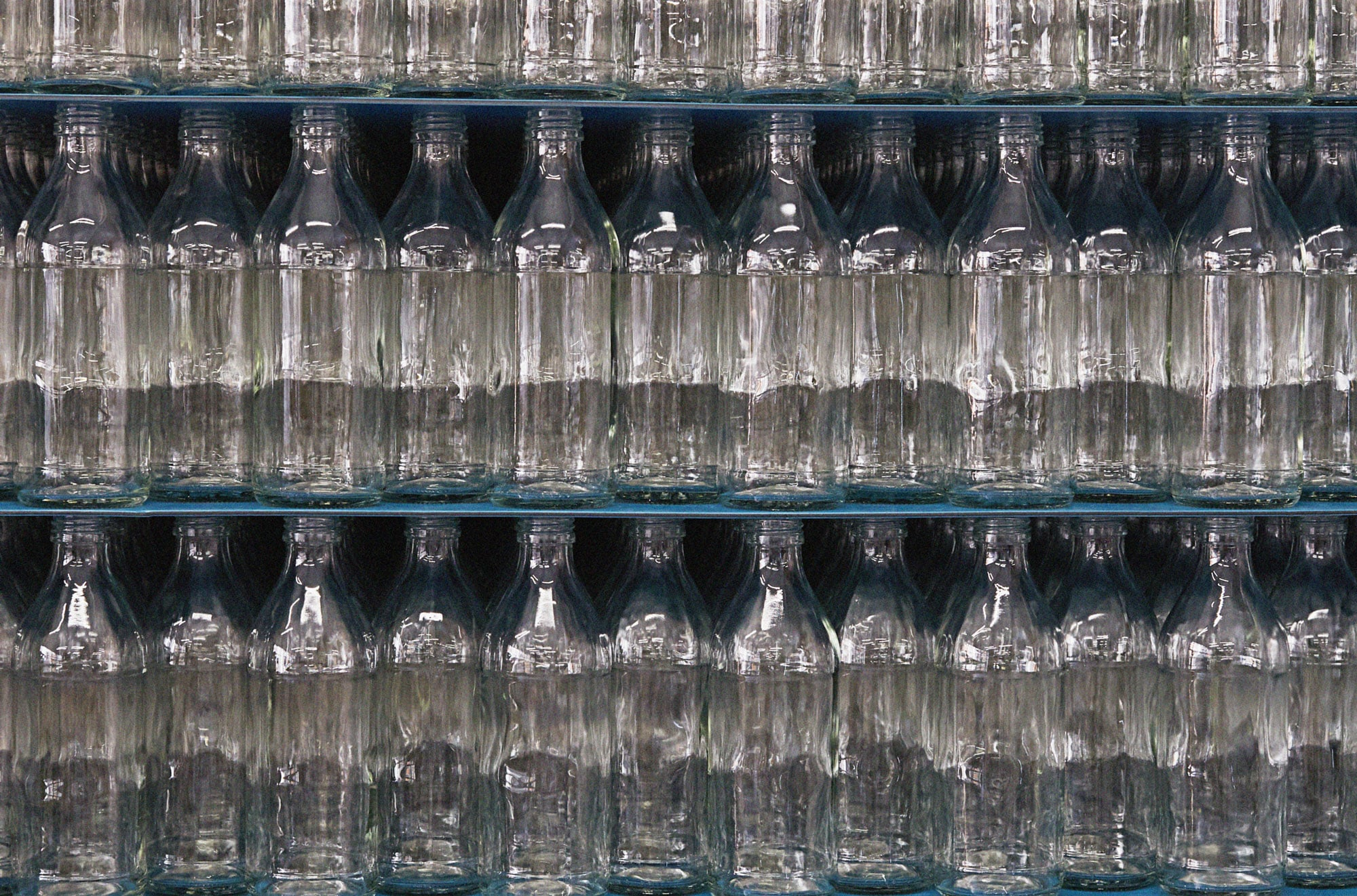 Zoom sur une palette de bouteilles vident