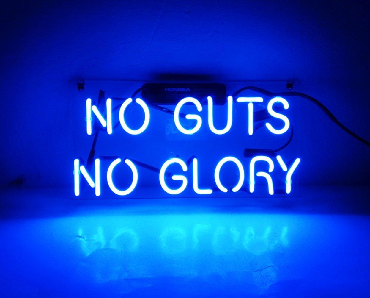 image de neon indiquant no gut no glory
