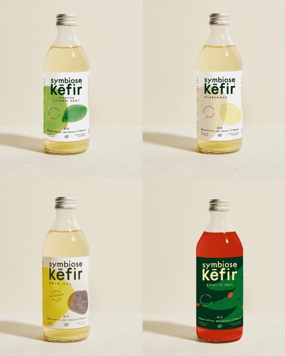 Gamme de kéfir de fruits Symbiose
